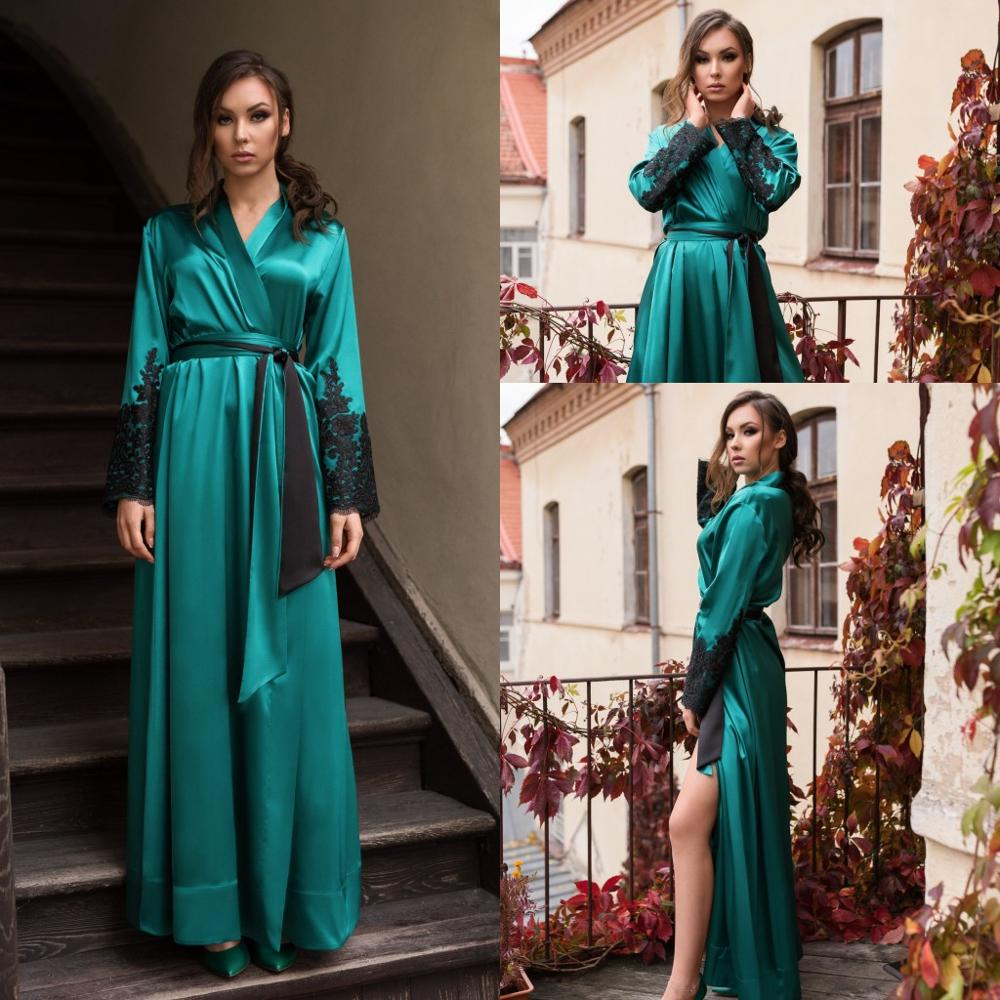 2020 Bridal Gowns Prom Party Dress Women Robe Wedding Dresses Silk Satin Nightdress Nightgown Sleepwear