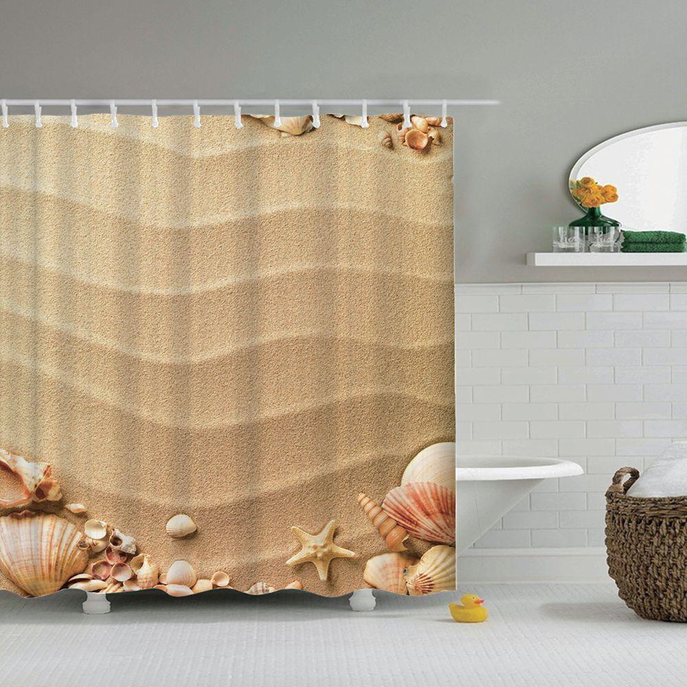 Nautical Seashell Beach Curtain