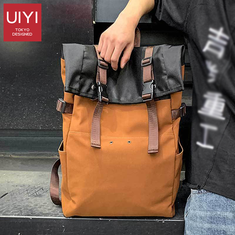 Men Travel Street Backpack 16 Inch Large Capacity Contrast Cover Student Book Bag Backpack Fashion Retro Casual Men Backpack