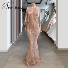 New Couture Dubai Tassel Evening Dress Pink Beaded Celebrity Gowns Turkish Kaftans Middle East Prom Dresses 2020 Robe De Soieee