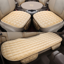 Capa de almofada de assento de carro universal protetor de assento de automóveis de pelúcia almofada de carro 1 conjunto de assento de carro
