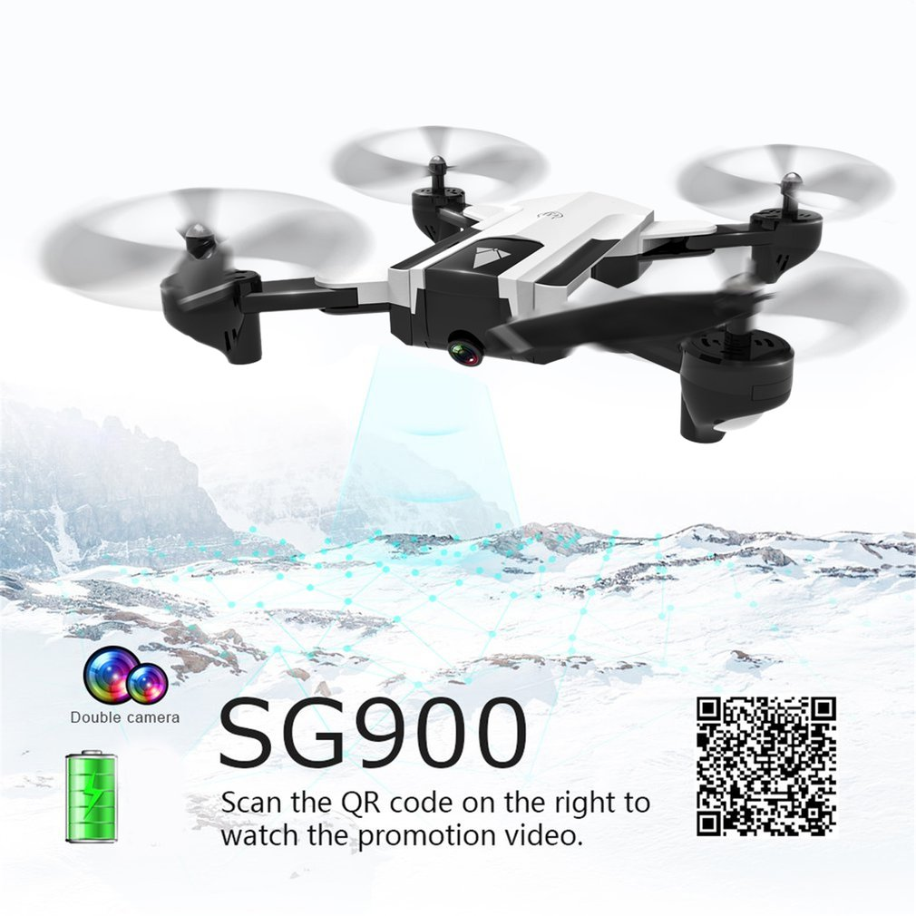 <font><b>SG900S</b></font> Foldable 4K Camera <font><b>Drone</b></font> with Camera 1080P HD Selfie WiFi FPV Wide Angle Optical Flow RC Quadcopter Helicopter Toys image