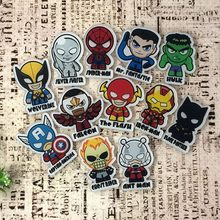 1Pcs Marvel Avengers Super Hero Super Man BAT MAN Iron Man Hulk Anime Ikon Acrylic Bros Lencana Pin Ransel pakaian Aksesori(China)