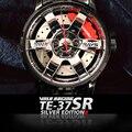 Новые мужские часы TE37 SR Rim Hub, металлические, индивидуальный дизайн, автомобильные наручные часы, нержавеющая сталь, на заказ, не печатаются, ...