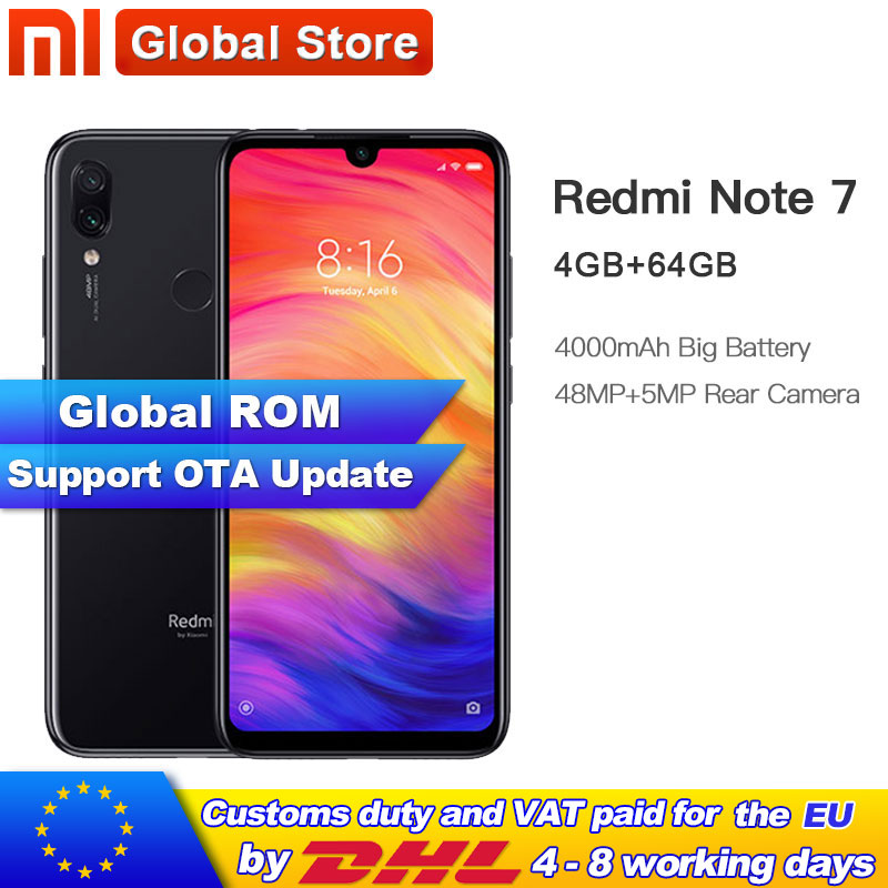 """ROM globale Xiaomi Redmi Note 7 64GB 4GB Smartphone Snapdragon 660 Octa Core 4000mAh 2340*1080 6.3 """"affichage 48 + 13MP téléphone mobile-in Mobile Téléphones from Téléphones portables et télécommunications on AliExpress - 11.11_Double 11_Singles' Day 1"""