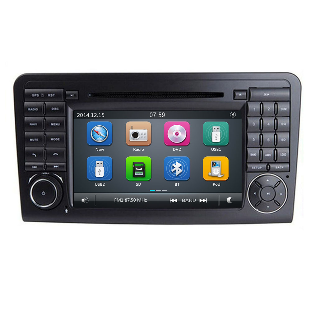 Reproductor estéreo de DVD de coche IPS para Mercedes/Benz GL ML clase W164 ML350 ML500 X164 GL320 con mapas BT GPS Radio