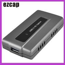 Ezcap287 USB 3.0การ์ดเกมจับภาพอุปกรณ์ที่ถ่ายทอดสดบันทึกEasyCap 1080P 60fps Plug And PlayสำหรับXBOX one PS4 WII U