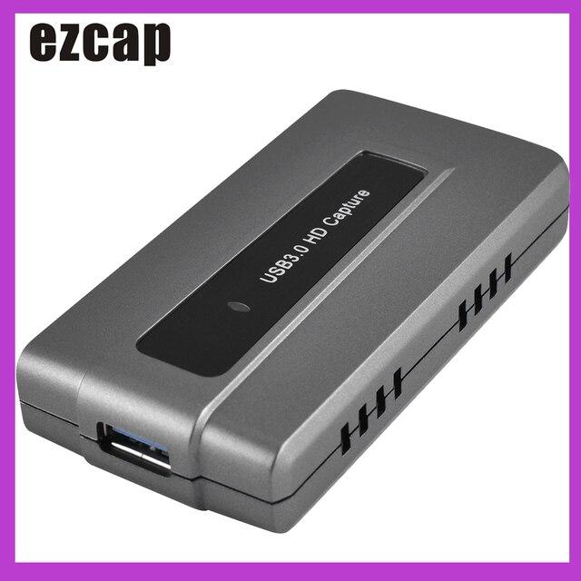 Ezcap287 USB 3.0 HD oyun yakalama kartı cihazı canlı akışı kayıt EasyCap 1080p 60fps tak ve çalıştır XBOX One için PS4 WII U