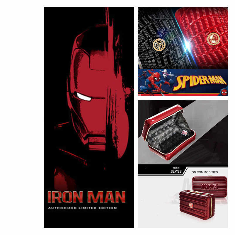 Anime The Avengers Marvel Iron Man Cosplay Prop Spider-Man PC Coin Purse Wallet Street Travel Clutch Storage Bag Fashion New