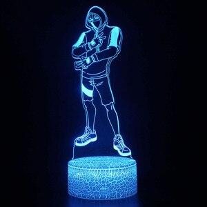 Image 2 - قلعة ليلة ثلاثية الأبعاد الوهم عمل الشكل مصباح فارس Yond3r الجليد الملك معركة رويال تمثال تضيء لعب الاطفال ضوء النوم