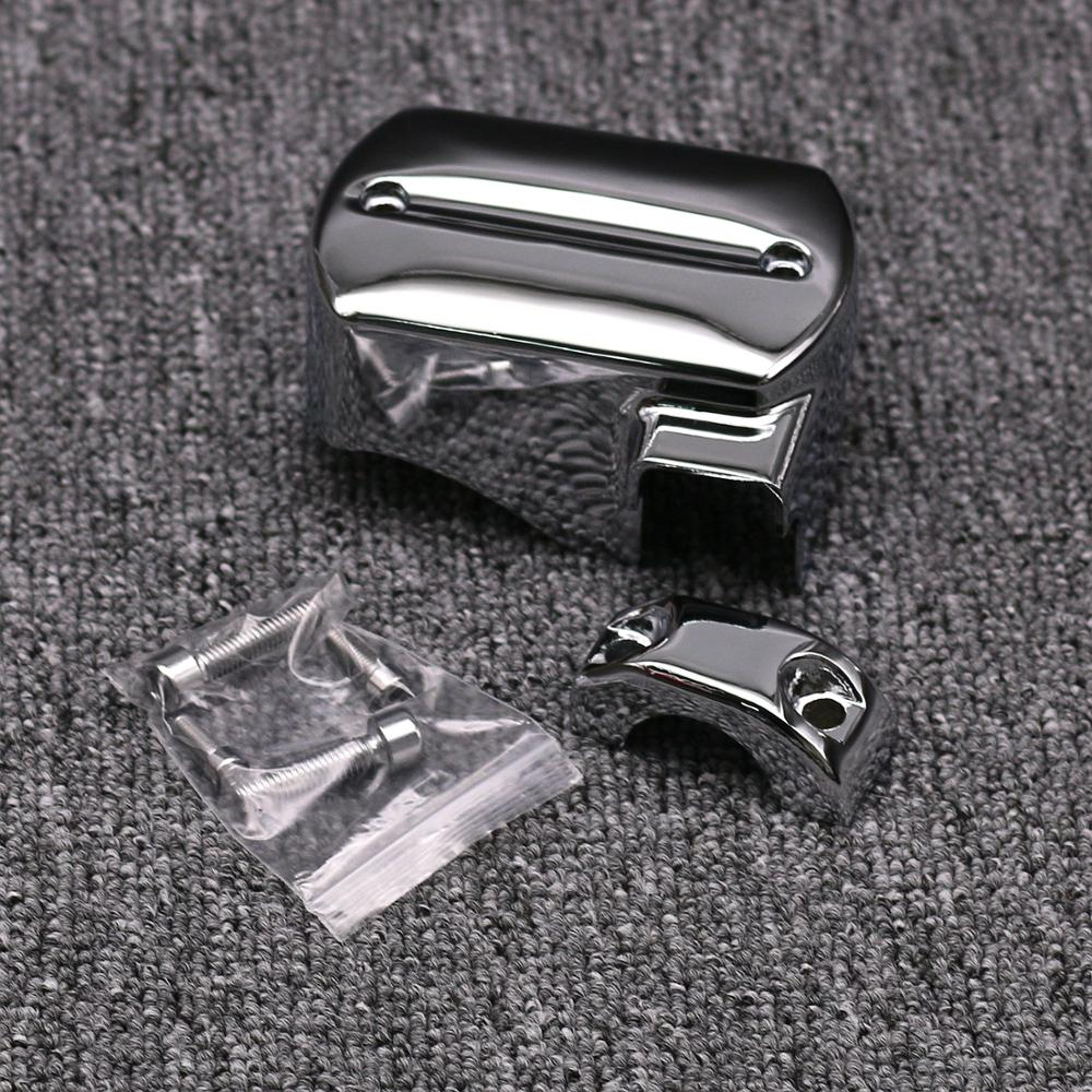 Chrome Motorcycle Master Cylinder Cover for Yamaha V Star V-Star <font><b>XVS</b></font> 650 950 <font><b>1100</b></font> 1300 1998 1999 2000 2010 2011 2012 2013 image