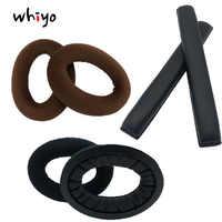 1 pçs headband earpads substituição para sennheiser pc350 hd380 pro fones de ouvido pc 350 hd 380 fone de ouvido coxim pára-choques capa copos