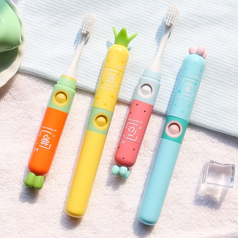 Cute Children Kids Sonic Electric Toothbrush Portable Travel Mini Cartoon Boys Girls Toothbrushes image