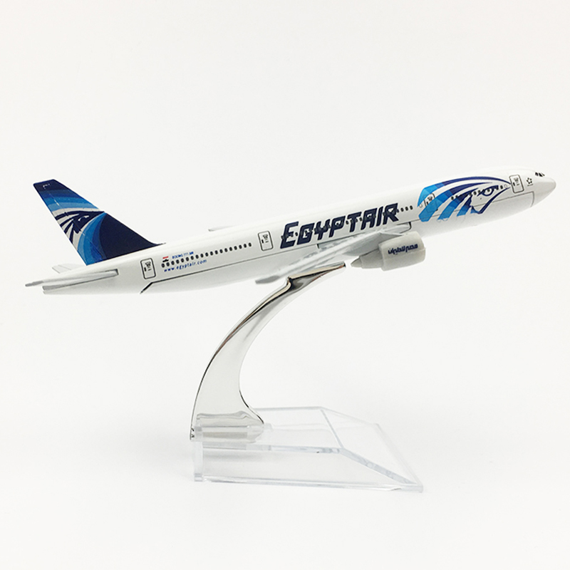 1/400 scale Alloy Airplane Model Egypt Air Boeing 777 16cm Metal Plane B777 Diecast Toys Children Kids Gift for Collection image