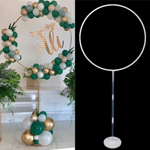Wedding arch plastic round ring arch stand artificial flower balloons decor birthday party wedding decoration flower stand frame