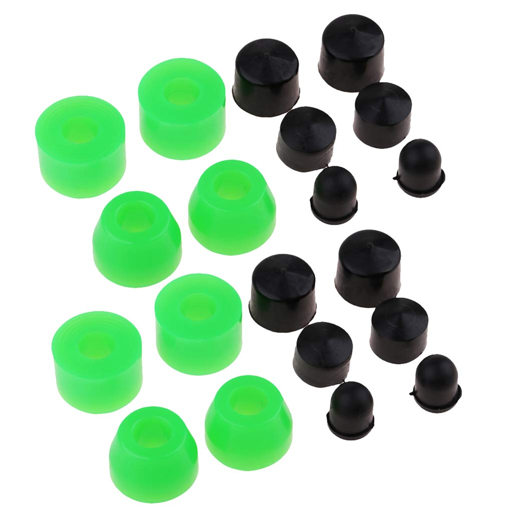 20 Pieces Replacement Skateboard Truck Bushing Set Longboard Rebuild Kit 85A Skateboard Truck Repair Bushings Accessories