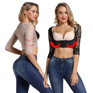 Image 5 - Joyshaper Arm Shaper Vrouwen Sexy Lingerie Bultrug Houding Corrector Afslanken Crop Top Shapewear Compressie Naadloze Lange Mouwen