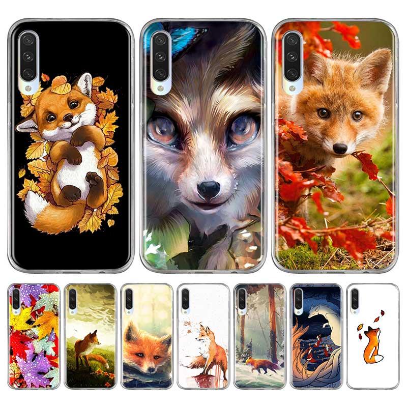 Fox en otoño las hojas de silicona para Xiaomi MI 9 9T 10 Lite Nota 10 Pro A1 A2 A3 8 Lite Poco X2 F2 Pro cubierta