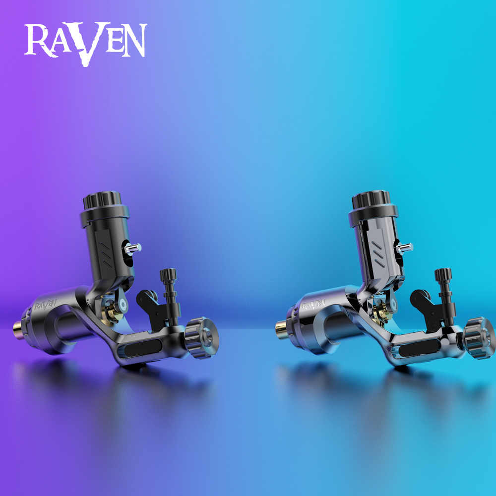 Dragonhawk Rotary Tattoo Machine Raven Ii Met Legering Grip Set Krachtige Motor Tattoo Machine Tatoeëerder Body Art
