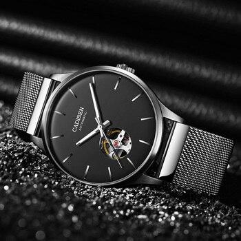 CADISEN 2020 New MIYOTA 82S0 Men's Watch Top Brand Automatic Mechanical Watch Hollow Out Business Watch Clock Man Clock Machine
