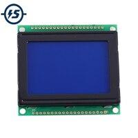 ЖК-дисплей 12864 ЖК-дисплей модуль белый символ синий фон точечная матрица 128x64 экран KS0108B драйвер DC 3,3 В