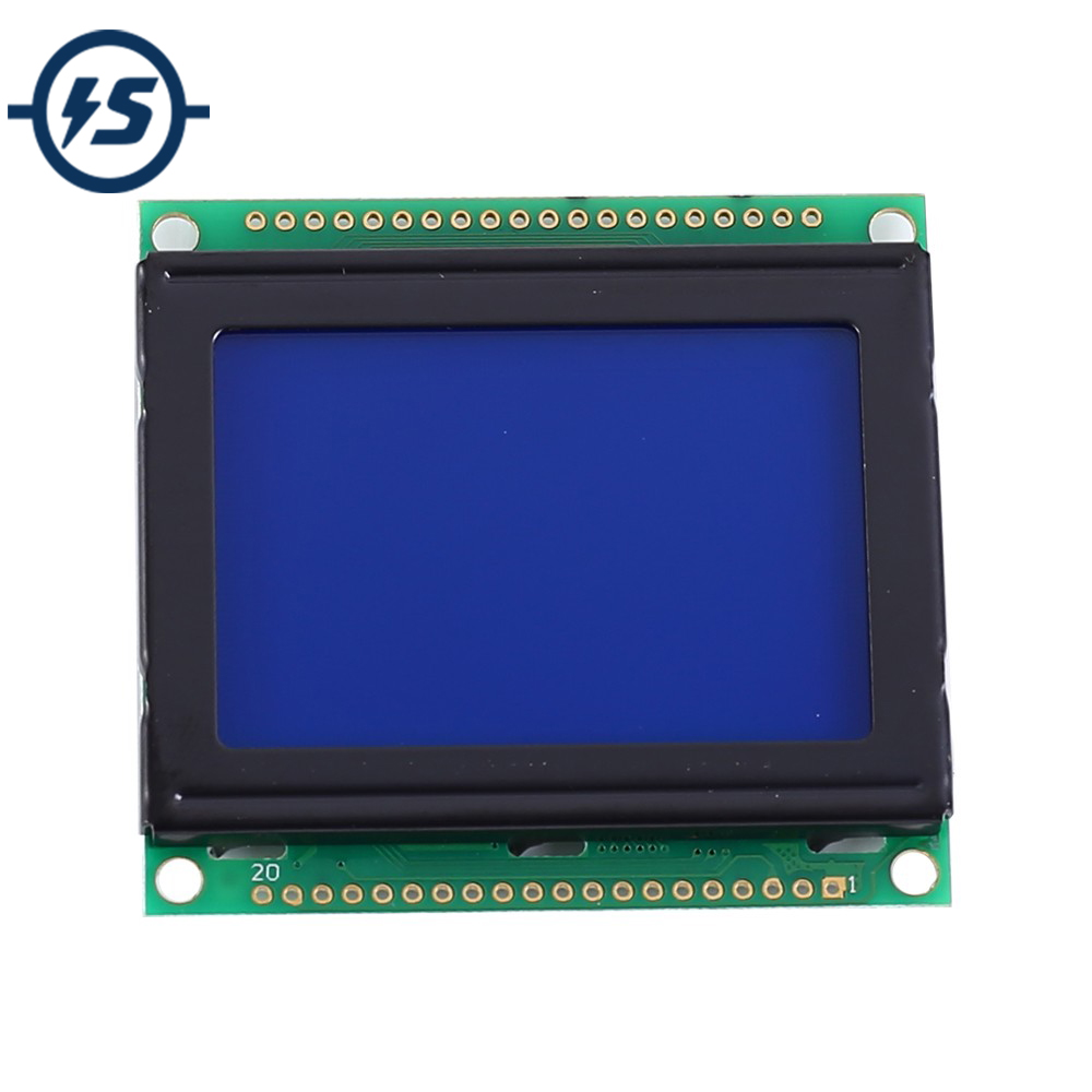 LCD12864 LCD Display Module White Character Blue Background Dot Matrix 128x64 Screen KS0108B Driver DC 3.3V