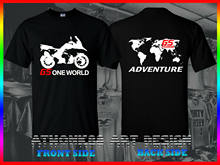 Motorcycle R 1200 Gsa T-Shirt Gs1200 Adventure One World Tee Shirt L100% Cotton T-Shirt Men 2019 Summer Cheap SaleT Shirts(China)