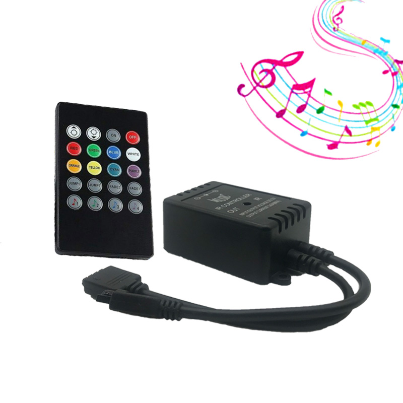 20 Keys Music Voice Sound Sensor Controller IR Remote Control Practical Party RGB 3528 5050 RGB LED Light Strip