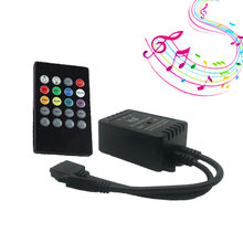 20 Keys Music Voice Sound Sensor Controller IR Remote Control Practical Party RGB 3528 5050 RGB LED Light Strip(China)