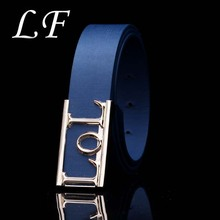 Fashion Belt Versatile Personality Letter LOL Smooth Buckle