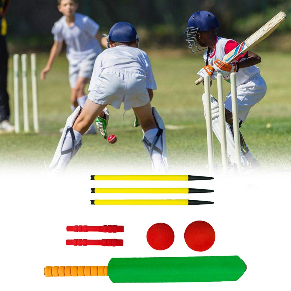 Kids Cricket Set Outdoor Interaction Leisure Educational Toys Early Development Toys Children Plastic Cricket Balls Playing Set