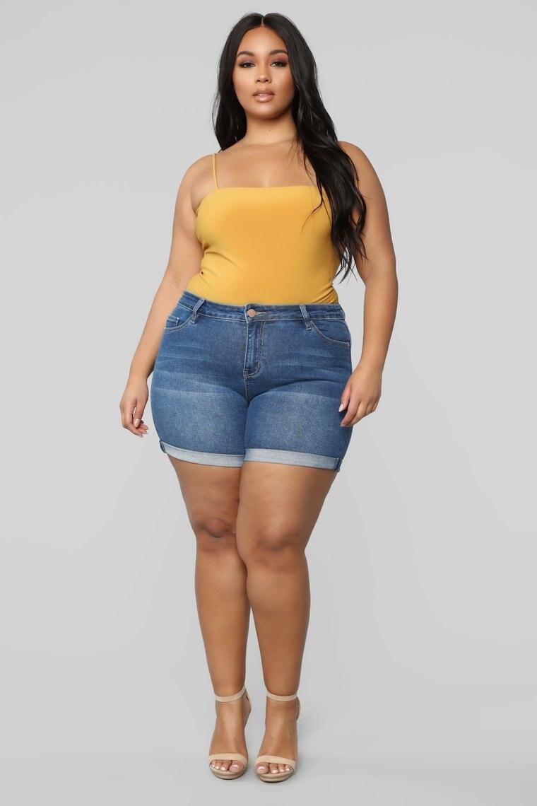 Shorts Women Plus Size  Oversized Jean Short Pants 4