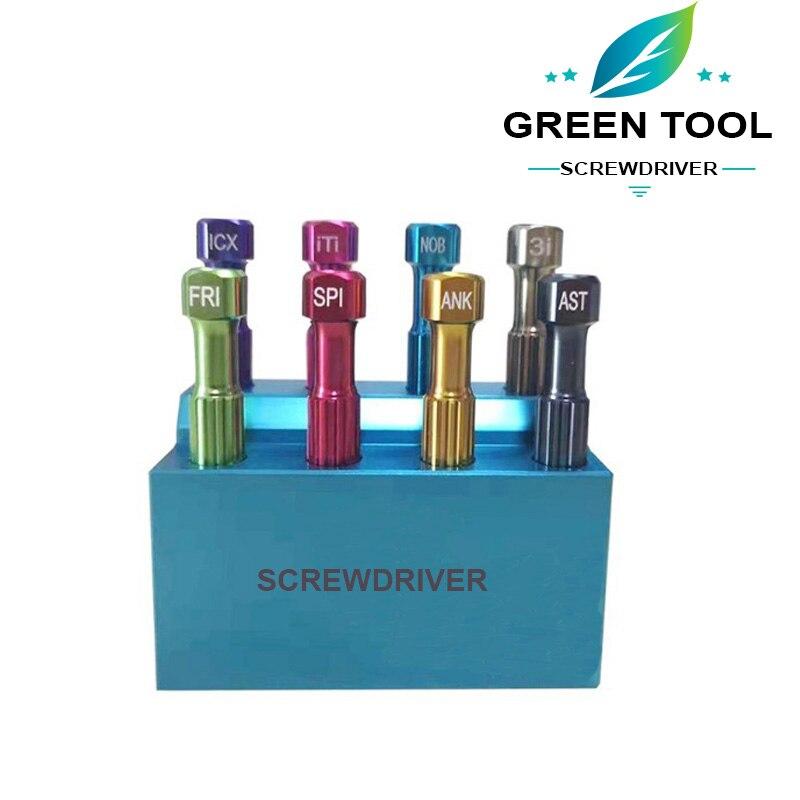 Dental Implant Screw Drivers/Denture Planting Abutment Mechanic Screwdriver 1 Set 8pcs