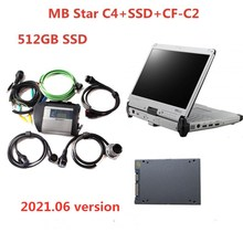 최고 품질 MB 스타 DiagnosisC4 SD 연결 컴팩트 4 SSD 설치 CF C2 CF C2 I5 Toughbook 진단 도구 자동차 트럭