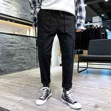 Men Cargo Pants Male Casual Full Pants Side Pocket Jogger Pants Multi pocket Harem Japan Style Hip Pop Trousers Casual Fashion недорого