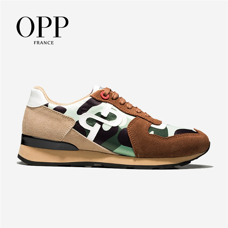 OPP Men's Shoes Large Size Sports Shoes Fashion Men's Camouflage Casual Shoes With Versatile Comfortable Travel Shoes