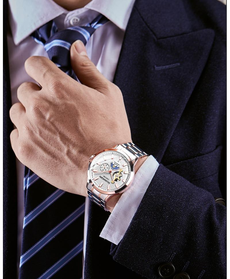 H85dd107ca1504701ab1b3ba8a6e7f1b8p GUANQIN 2019 automatic watch clock men waterproof stainless steel mechanical top brand luxury skeleton watch relogio masculino