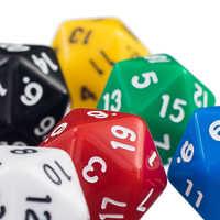 Juego de 6 dados acrílicos de 20 lados, RPG, TRPG, MTG, D20, varios colores