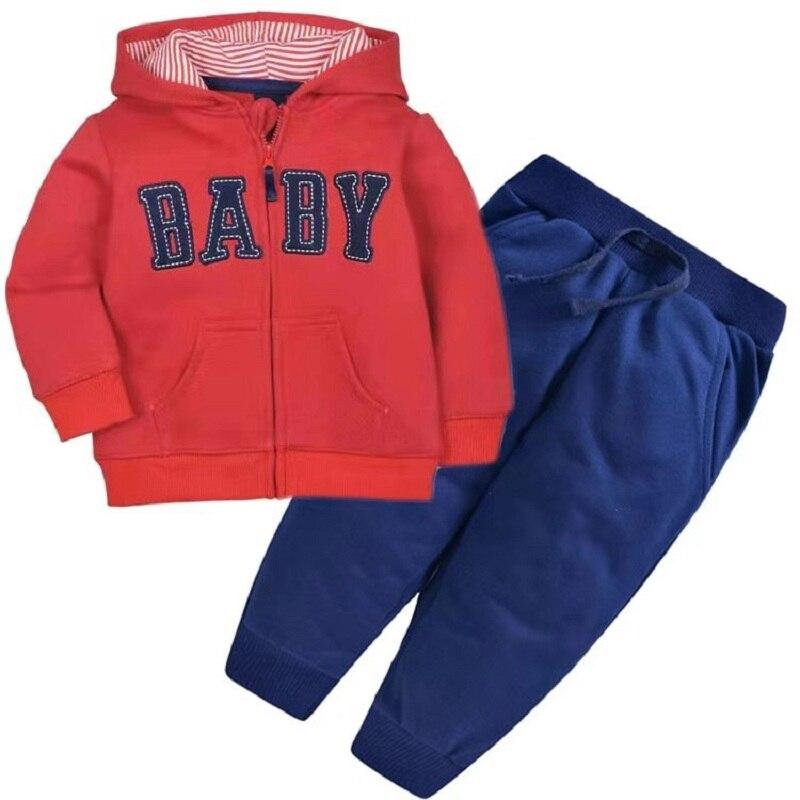 Одежда для маленьких девочек пальто с капюшоном с длинными рукавами и вышитым единорогом+ штаны, г. Весенняя одежда для маленьких мальчиков комплект для малышей, одежда для малышей - Цвет: 2