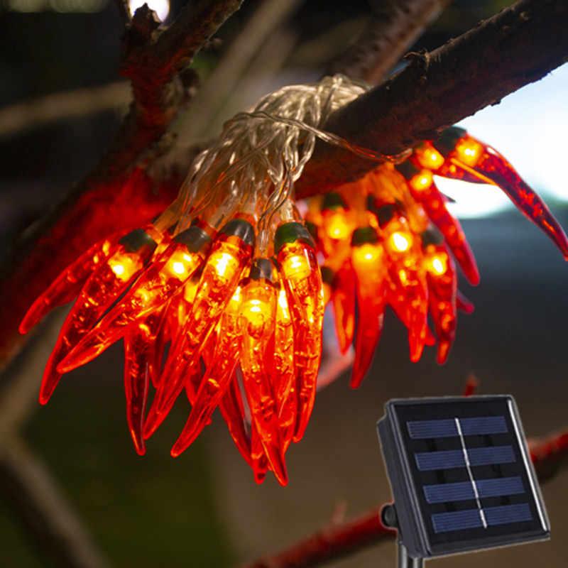 Solar Ed Red Chilli Lights String