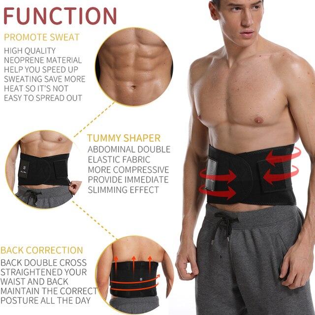 Mens Waist Trainer Abdomen Slimming Body Shaper Belly Shapers Modeling Belt Weight Loss Shapewear Sweat Girdle Slim Trimmer Belt 1