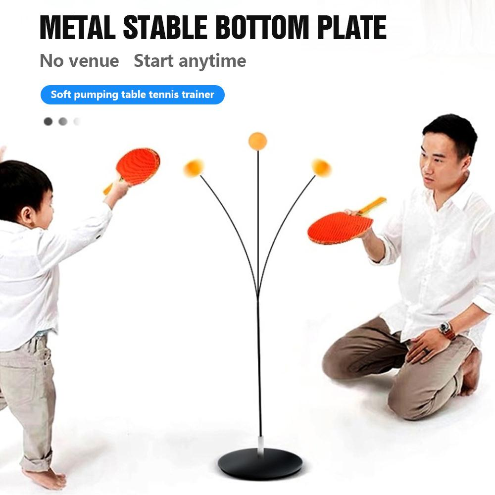 Wood Table Tennis Practice Trainer Racket Game Movement Soft Shaft Training Machine Elasticity Kid Adult Ping Pong Practice