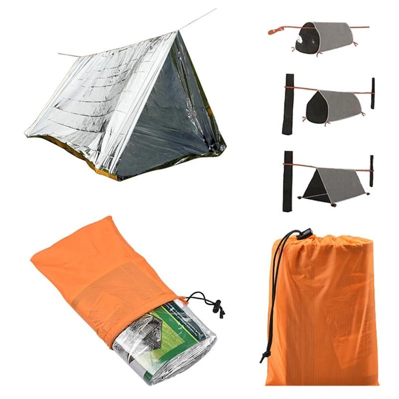 Blanket Rescue Survival Kit SOS Sleeping Bag Survival Tube Emergency Tent