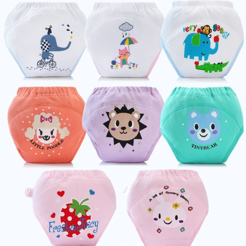 Baby Washable Cloth Diaper Training Pant Adjustable Nappy Panties Reusable Clothing Diapers Underwear Fit 0-2years 3-15kg Infant