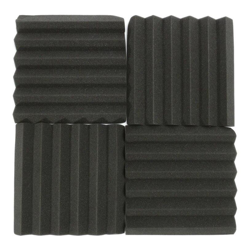 Quality 8 Pcs Sound Insulation Foam Acoustic Foam Sound Treatment Studio Room Absorption Wedge Foam