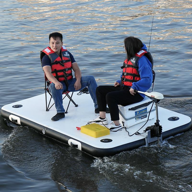 Fishing Magic Carpet Buoy Enhanced Inflatable Fishing Floating Platform Luya Inflatable Boat Rubber Boat 4