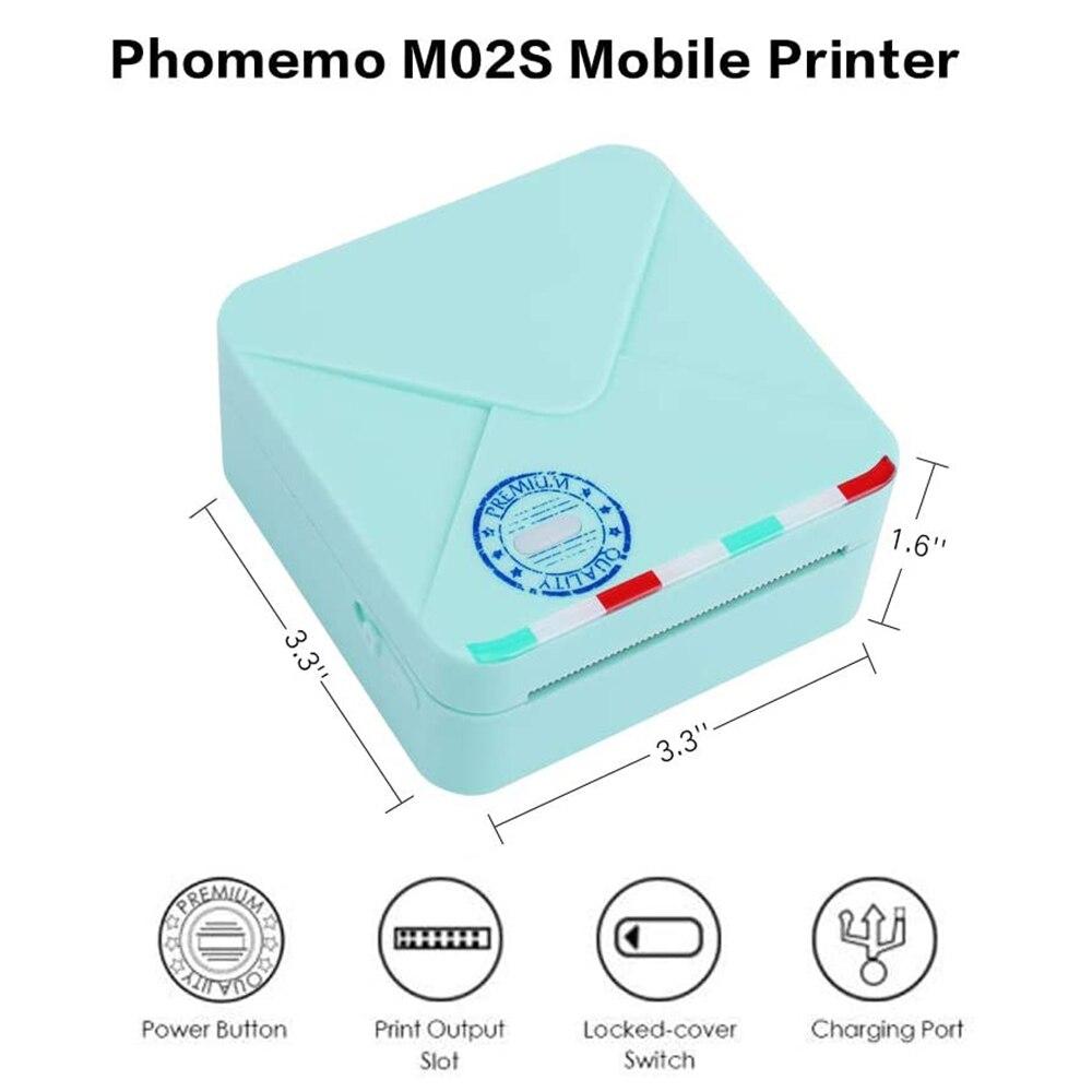 de bolso termica portatil bluetooth wirelesshand realizada 300 dpi phomemo impressora 05