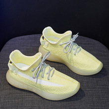 2020 Breathable Women Sneakers Mesh air low cut sports Casual Shoes Night Luminous yellow Woman Running  Shoe 4h30