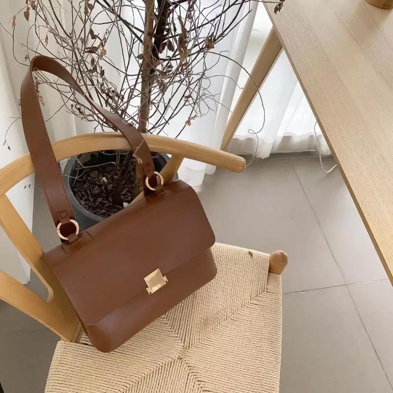 Sacs à main rétro décontractés pour femmes, sacs à bandoulière de marque de styliste Chic, sacs à bandoulière de luxe en cuir Pu, sacoche large