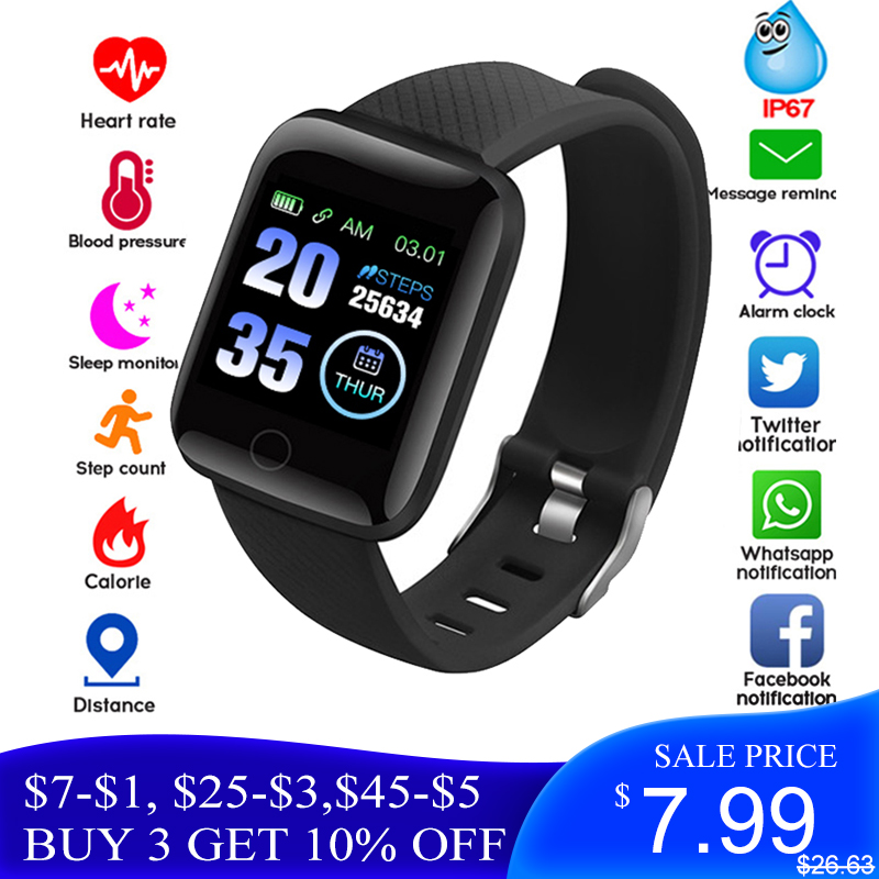 Smart Watch 116 Plus Wristband Fitness Blood Pressure Heart Rate Android D13 Sports Band Z2 SW001